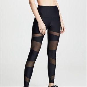 Onzie Black High Rise Mesh Bondage Leggings| S/M